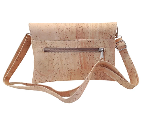 Vegan Shoulder Bag w/ Tacks | Natural - Vegan Shoes Rutz