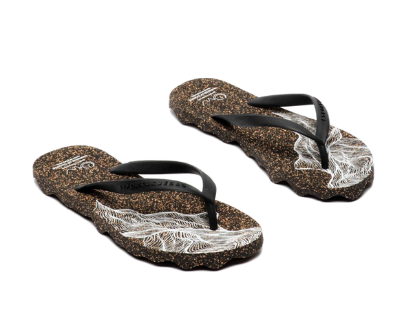 Flip Flops MCNAMARA | Black Black - Vegan Shoes Rutz