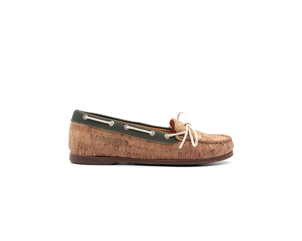 Mocassins | Natural & R-PET Green - Vegan Shoes Rutz