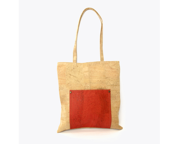 Vegan Shopping Bag | Red - Vegan Shoes Rutz