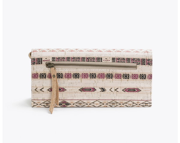 Medium Clutch | Ethnic Lilac - Vegan Shoes Rutz