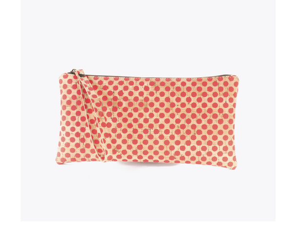 Vegan Clutch/Wristlet | Red Balls