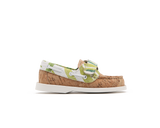 Kids Boat Shoe <br> Natural / White Tropics