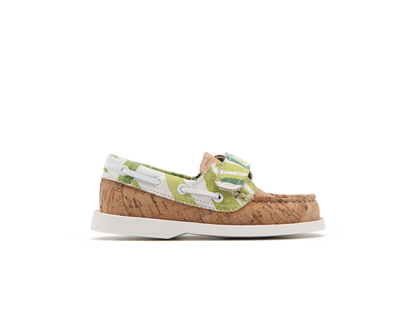 Eco Kids Boat Shoe | Natural / White Tropics - Vegan Shoes Rutz