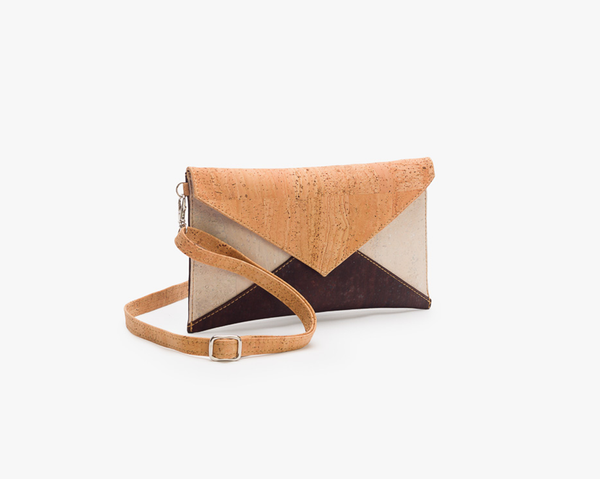 Vegan Envelope Bag | Natural Bicolor - Vegan Shoes Rutz