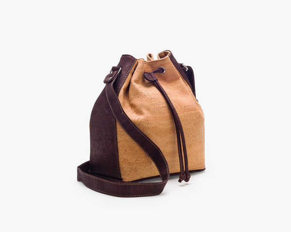 Bucket Bag | Natural & Brown - Vegan Shoes Rutz