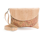 Vegan Shoulder Bag w/ Tacks | Floral - Vegan Shoes Rutz