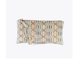 Vegan Clutch/Wristlet | Ethnic Blue - Vegan Shoes Rutz