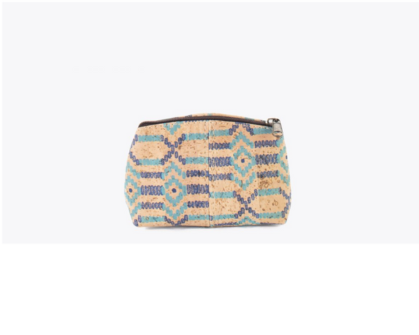 Vegan Small Purse | Ethnic Blue - Vegan Shoes Rutz