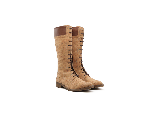 Vegan Ridding Boot | Natural - Vegan Shoes Rutz