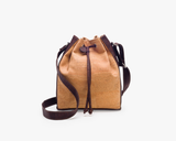 Vegan Bucket Bag | Natural & Brown - Vegan Shoes Rutz