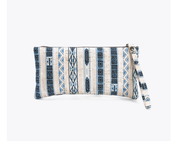 Vegan Clutch/Wristlet | Ethnic White