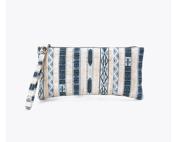 Vegan Clutch/Wristlet | Ethnic White - Vegan Shoes Rutz