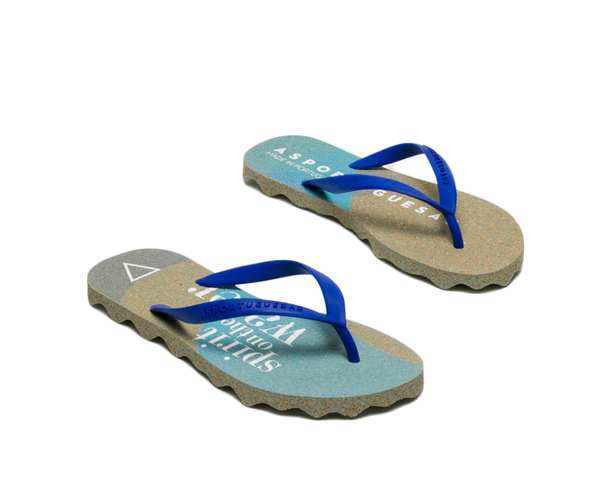 Flip Flops EACH | Green Blue - Vegan Shoes Rutz