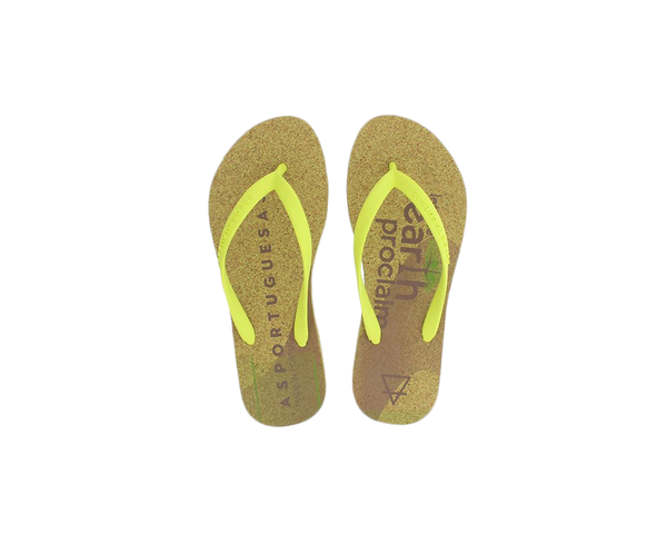 Flip Flops EYES | Yellow Green - Vegan Shoes Rutz