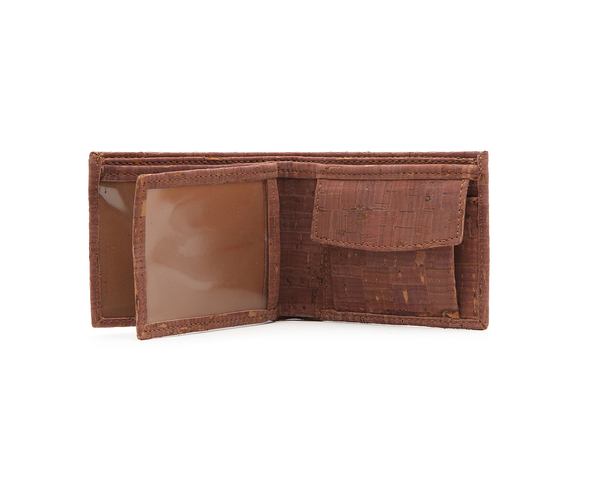 Vegan Man Coin Wallet | Camel - Vegan Shoes Rutz