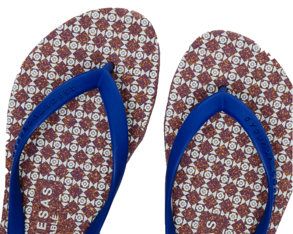Flip Flops ARROWS | Purple & Blue - Vegan Shoes Rutz