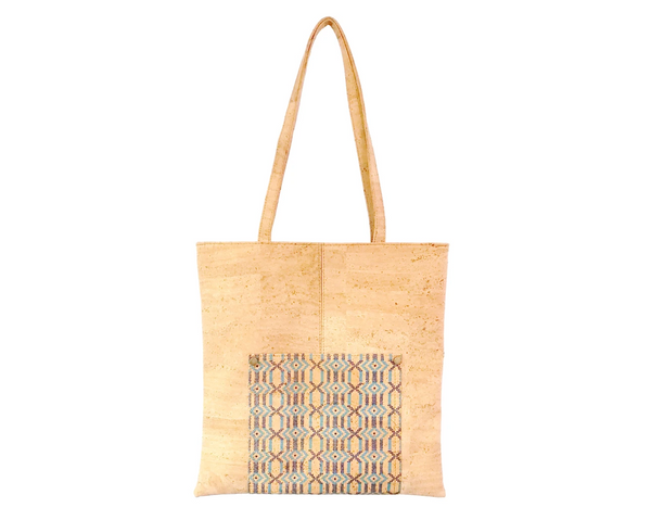 Vegan Shopping Bag | Ethnic Blue - Vegan Shoes Rutz