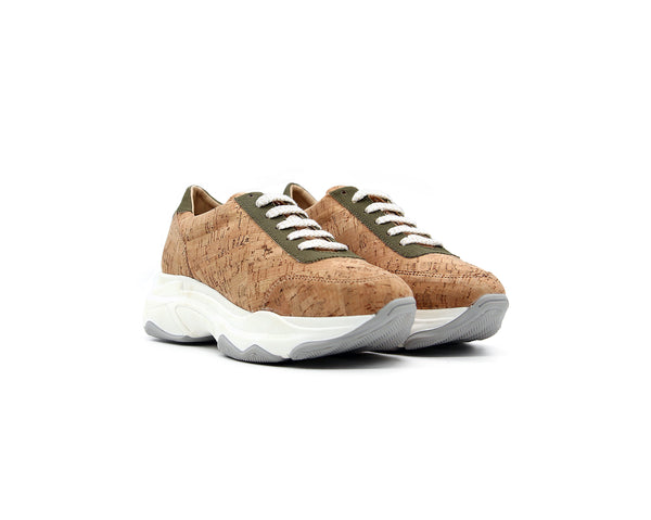 Oversized Sneakers | Natural & R-PET Green - Vegan Shoes Rutz