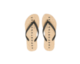 Flip Flops BASE | Natural & Black - Vegan Shoes Rutz