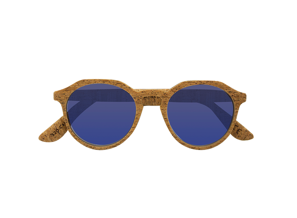Calima Sunglasses | Alentejo Cork & Parafina Blue - Vegan Shoes Rutz