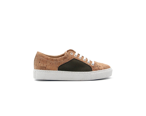 Regular Sneakers | Natural & R-PET Green - Vegan Shoes Rutz
