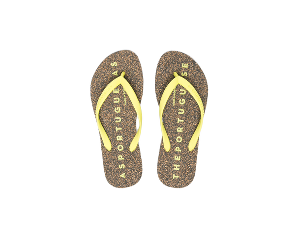 Flip Flops BASE | Black & Yellow - Vegan Shoes Rutz