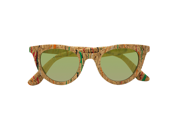Lluvia Sunglasses | Masai Cork & Arizona Gold - Vegan Shoes Rutz