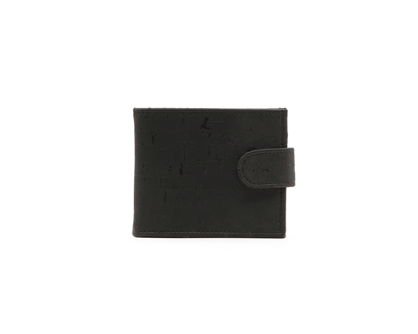 Vegan Man Wallet Button | Black - Vegan Shoes Rutz