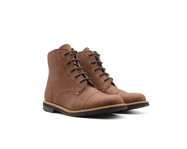 Vegan Mountain Boots | Beige-Brown - Vegan Shoes Rutz
