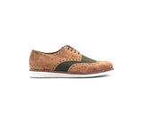 Vegan Casual Derby | Natural & R-PET Green - Vegan Shoes Rutz