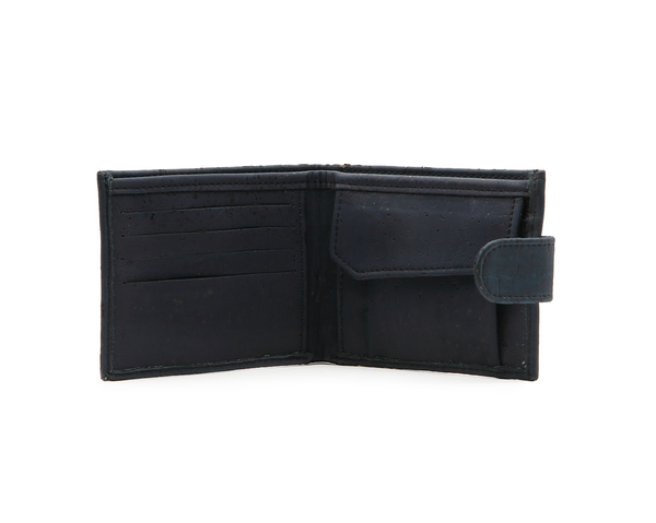 Vegan Man Wallet Button | Blue - Vegan Shoes Rutz