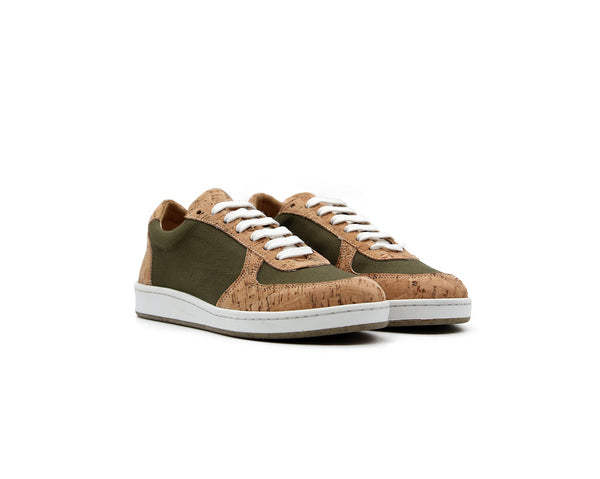 Old Skool Sneakers | Natural & R-PET Green - Vegan Shoes Rutz