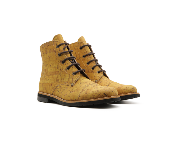 Vegan Mountain Boots | Mustard - Vegan Shoes Rutz