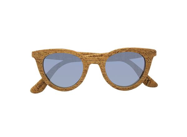 Lluvia Sunglasses | Creta Cork & Tile Silver - Vegan Shoes Rutz