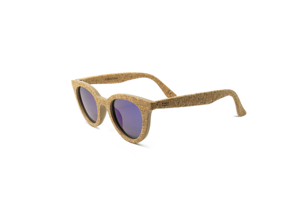 Lluvia Sunglasses | Alentejo Cork & Parafina Blue - Vegan Shoes Rutz