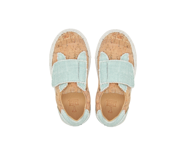 Sneakers One Velcro | Natural & Organic Mint - Vegan Shoes Rutz