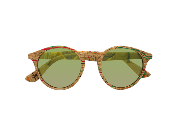 Laguna Sunglasses | Masai Cork & Arizona Gold - Vegan Shoes Rutz