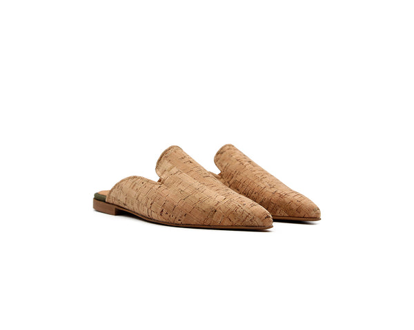 Pointed Mule | Natural - Vegan Shoes Rutz