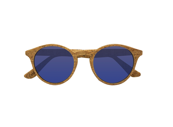 Laguna Sunglasses | Alentejo Cork & Parafina Blue - Vegan Shoes Rutz