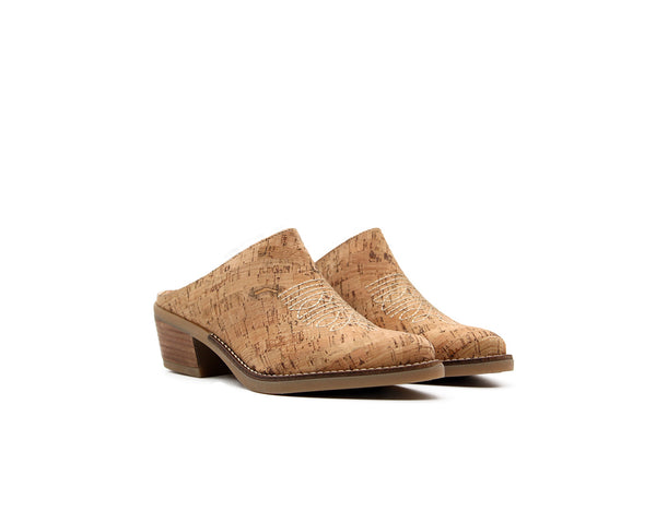 Texan Mule | Natural - Vegan Shoes Rutz