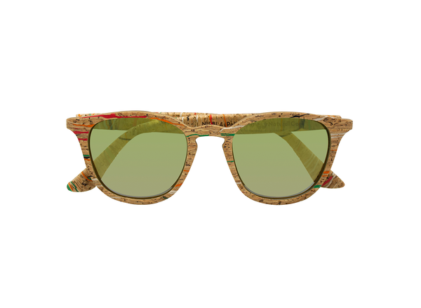 Niebla Sunglasses | Masai Cork & Arizona Gold - Vegan Shoes Rutz