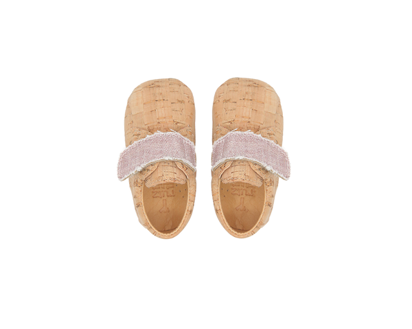Vegan Baby Bootie | Natural & Organic Pink - Vegan Shoes Rutz