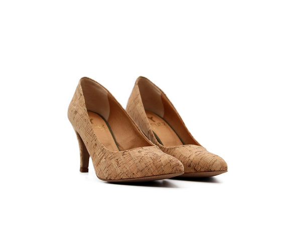 Mid Heel Pumps | Natural - Vegan Shoes Rutz