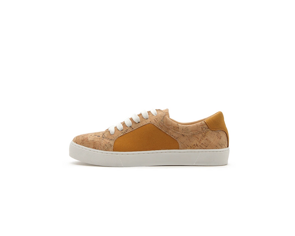Vegan Casual Sneakers | Natural-Mustard - Vegan Shoes Rutz