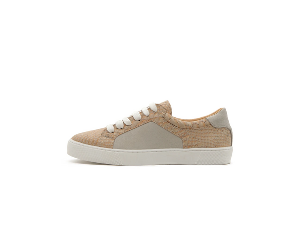 Vegan Casual Sneakers | White Snake - Vegan Shoes Rutz