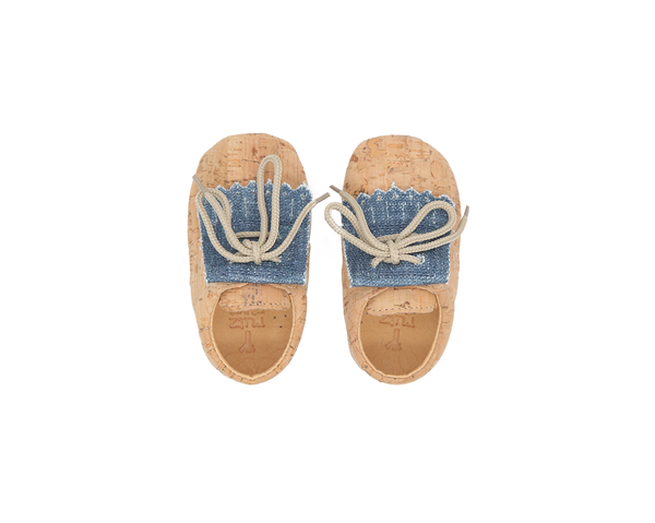 Vegan Baby Fringes | Natural & Organic Blue - Vegan Shoes Rutz