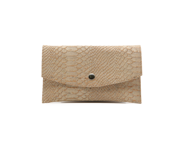 Vegan Big Card Wallet | White Snake - Vegan Shoes Rutz