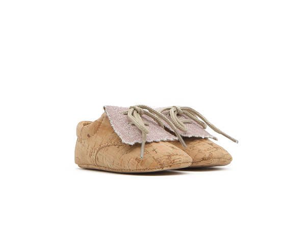 Vegan Baby Fringes | Natural & Organic Pink - Vegan Shoes Rutz