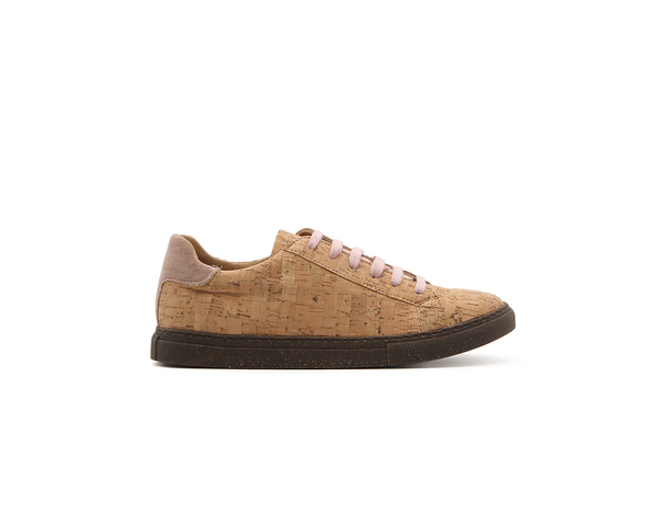 Vegan Sneakers Eco Plus | Natural-PinkVelvet - Vegan Shoes Rutz